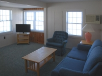 Living Room Area of Deluxe Cottage